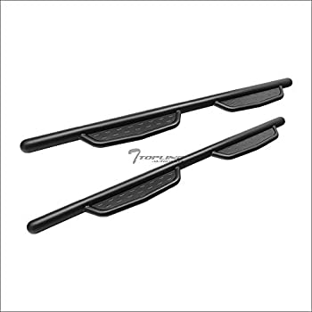 Topline Autopart 3 Black Side Step Nerf Bars Rail Running Boards For 07-18 Chevy Silverado//GMC Sierra Double Cab Extended