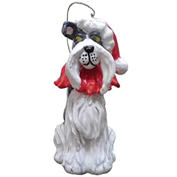 "WL SS-WL-20266 Lili The Schnauzer Dog Ornament Christmas Collectible, 2.75"""