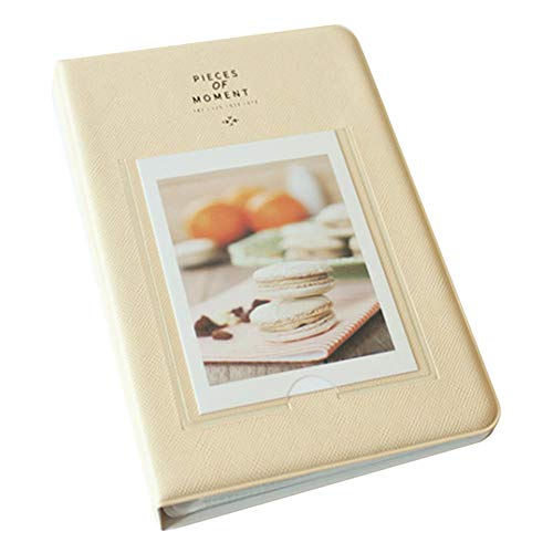 Gftablks Mini Photo Album, 72 Pockets 4 inches Memory Photo Albums, Fujifilm Instax SQ-10 Picture Holder for Weddings, engagements, Graduations, guestbook, Baby Photos, Memories - Beige (Two Mini Album Wedding)