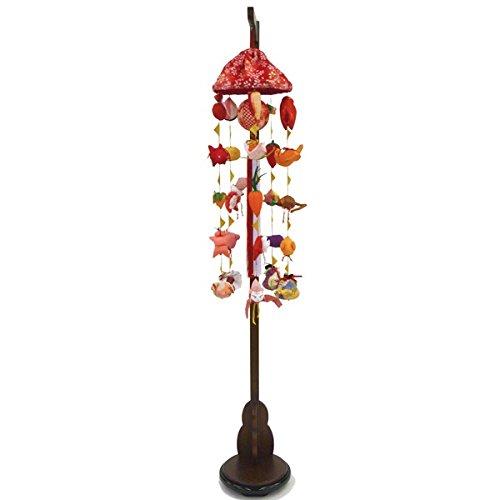 吊るし飾り まり飾り [特小] 傘付、吊り台付 [ 高さ 約83~125cm ]   B07NPCTN5L