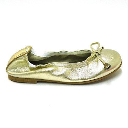 CLARYS Zapatos Sport Joven Bailarinas Slippers 5028 Oro