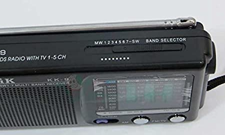 Radio portátil AM FM 7 bandas de radio frecuencia y audio del televisor CMik KK-9 NEGRO: Amazon.es: Electrónica