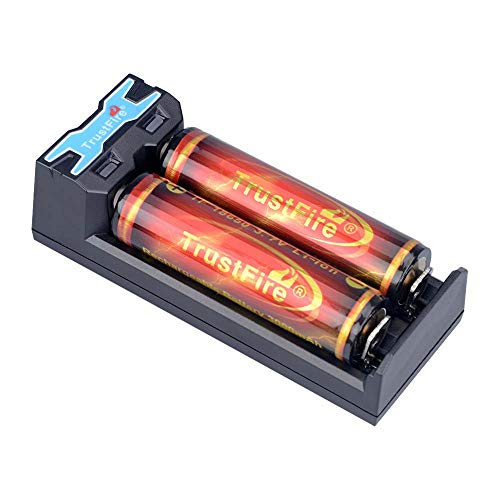 Usb Port Analyzer - TrustFire TR016 Rechargeable Battery Charger with USB Port,2 Slots for Li-ion IMR 10440 14500 16340 17335 17670 18350 18500 18650 3.7V Lithium Batteries, Battery Not Included
