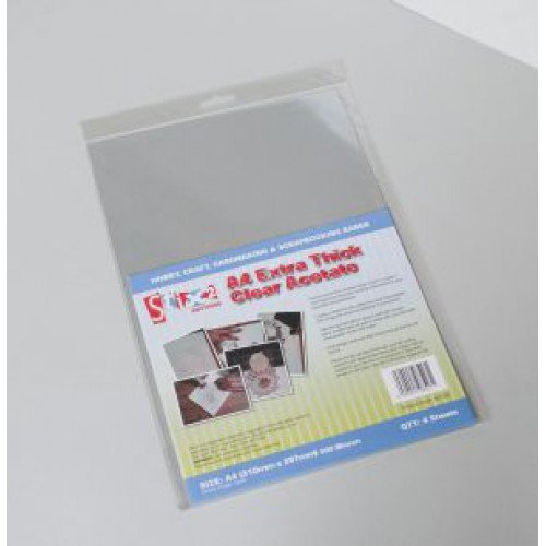 photo regarding Printable Acetate named Stix2 Far more Thick Distinct Acetate Sheets, A4, pk of 4: Amazon