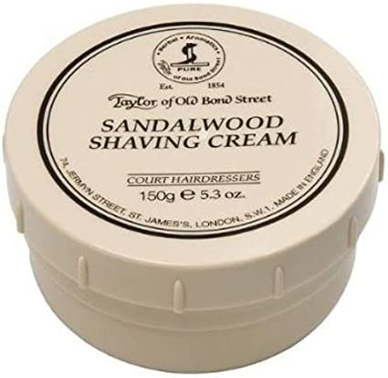 Taylor of Old Bond Street Sandalwood Shaving Cream , 5.3 oz, 2 Pack by Taylor of Old Bond Street
