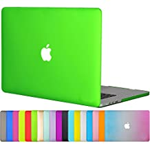"Easygoby Case For Retina 15-inch - Matte Silky-Smooth Satins Touch Hard Shell Case Cover for 15.4"" / 15-Inch MacBook Pro with Retina Display NO CD-ROM Drive (Model A1398) - Deep Green"
