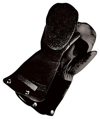 Bob Dale Gloves 509901XL Grain Leather Mitt Split Back Black Pullout Foam Liner,