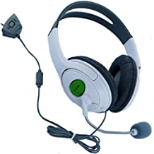HDE Xbox 360 Headset Game Chat Xbox Live Headphone with Microphone (White)