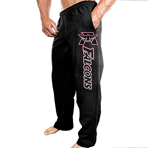 Price comparison product image SSDDFF Mens Atlanta American Football Team Falcons Comfortable Leisure Sweatpants Leisure Wear Size 3X Black