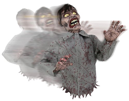 Bump And Go Animated Rolling Zombie Prop Halloween Decoration With Sounds -