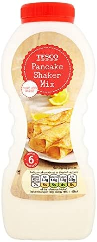 Tesco Pancake Shaker Traditional Mix 155g Amazon Co Uk Grocery