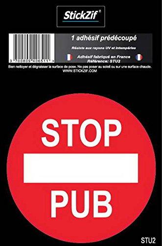STICKZIF STU2 1 adhesif pre-decoupe Stop pub SDPA