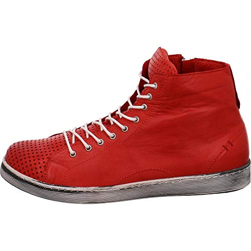Piel Zapatos Lisa De Con Rojo Conti Mujer Cordones Andrea qwzXB4
