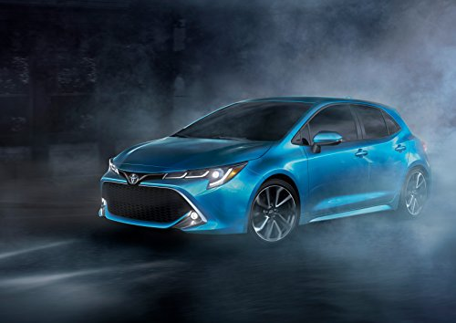 Toyota Corolla XSE Hatchback (2019) Car Print on 10 Mil Archival Satin Paper Blue Front Static View 16