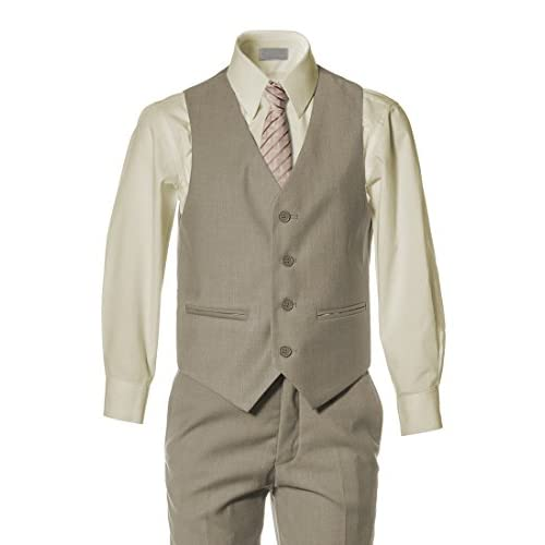 Boys Slim Fit Khaki Tan Suit in Toddlers to Boys Sizing