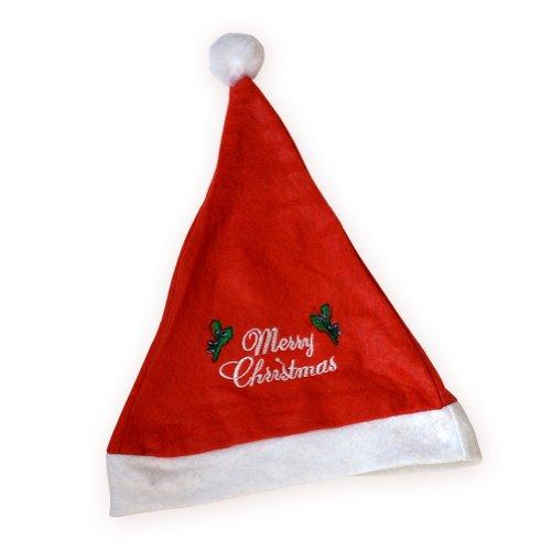 [Classic Christmas Unisex Santa Hat Cap Festive Headwear Holiday Gift Party Hat] (Black Widow Marvel Makeup)