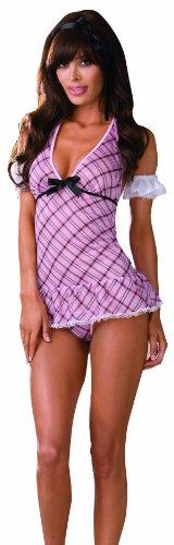 Dreamgirl Women's Sassy Schoolgirl Top, Pink, One Size