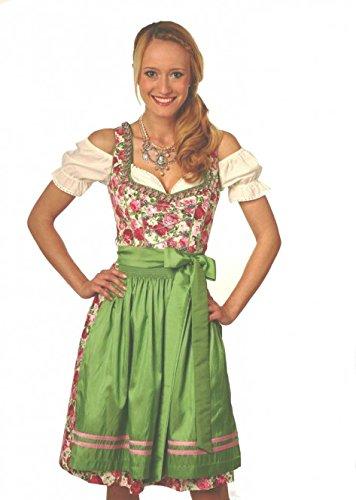 Dirndl midi 60 cm Duska grün/rosa Fuchs