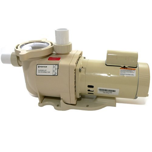 Pentair 340043 SuperFlo High Performance Energy Efficient Two Speed Pool Pump, 1½ Horsepower, 230 Volt, 1 Phase - Energy Star Certified