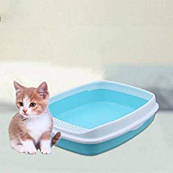 Gold Happy Pets Clean Half Closed Anti-Splash Toilet Case Indoor Bedpan Cat Litter Box Dog Toilet Training Cat Pet Product