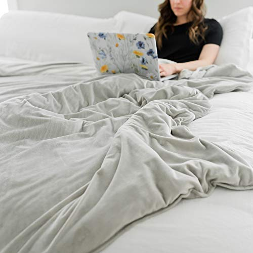 (GRACED SOFT LUXURIES Duvet Cover for Weighted Blankets Adult Extra Large 60