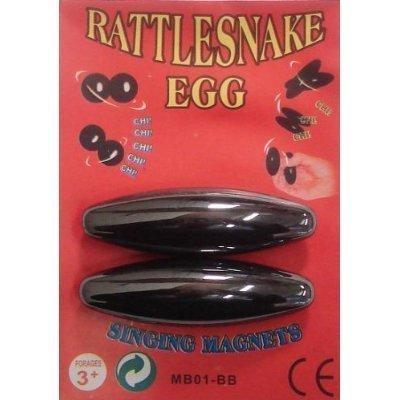 6 Pairs - Large 2 1/2'' Rattle Snake Egg Singing Magnets