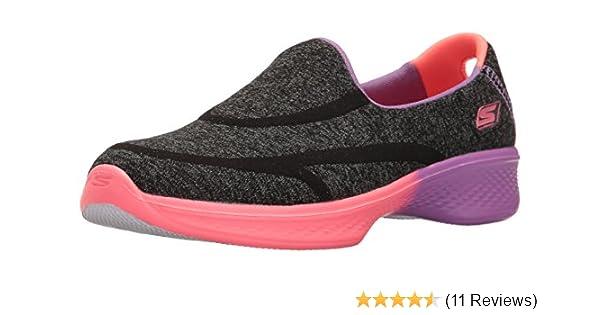 b3efe11c3cdf Skechers Kids Girls Go Walk 4-Awesome Ombres Loafer