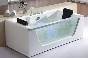 EAGO AM Feet Left Drain Rectangular Corner Whirlpool Bath Tub - Corner tub with jets