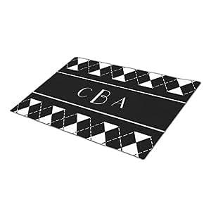 wyd-a negro y blanco personalizadas alfombrillas de puerta interior piso Mats talla única