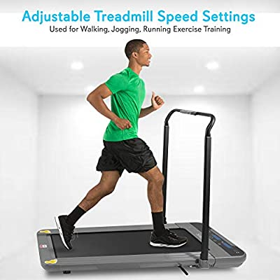 SereneLife Folding Digital Portable Electric Treadmill – Large Runing Surface - Compact Slim Fitness Training Cardio Equipment for Home Workouts, Walking Exercise – Minimal Profile Running Machine