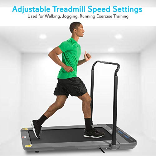 SereneLife Folding Digital Portable Electric Treadmill - Large Running Surface - Compact Slim Fitness Training Cardio Equipment for Home Workouts, walking Exercise - Minimal Profile Running Machine