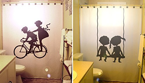 Bicycle Children Swing Kids Shower Curtain