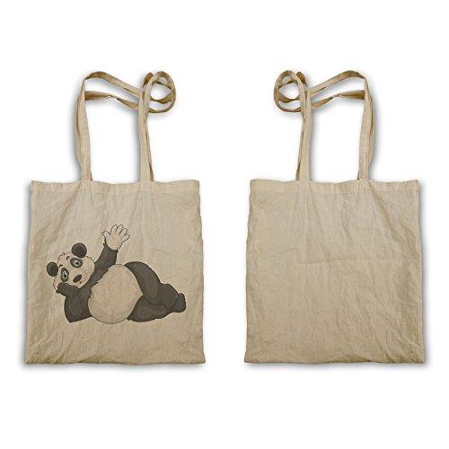 Panda Faccia Dire Ciao R235r Tote Bag