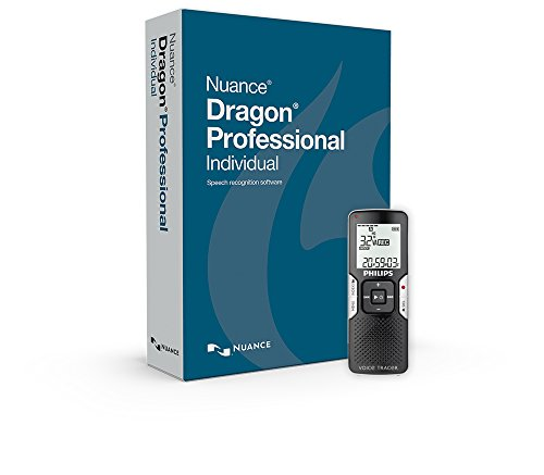 Nuance Communications DRAGON PRO Individual with Digital Recorder (Voice Recorder To Text Software)