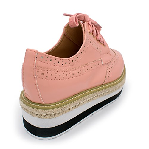 Wingtip Women's Lace Shoe Rope Oxford Ts Pink Flatform Breeze Platform Nature up E5qnwpTF