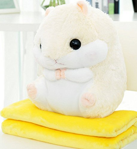 YunNasi Blanket Hamster 19 7inch Creamy White product image