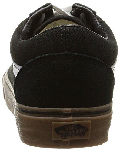 Vans U Old Skool, Unisex-Erwachsene Sneakers Schwarz (gumsole/black/medium Gum)
