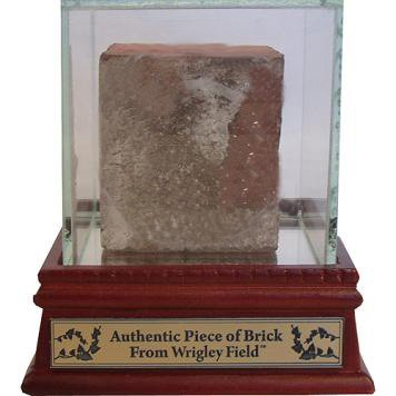 MLB Chicago Cubs Authentic Piece of Brick from Wrigley Field with Glass Display Case
