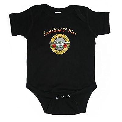 Guns N Roses Sweet Child Of Mine Bullet Seal Logo Kids Infant Onesie + Coolie
