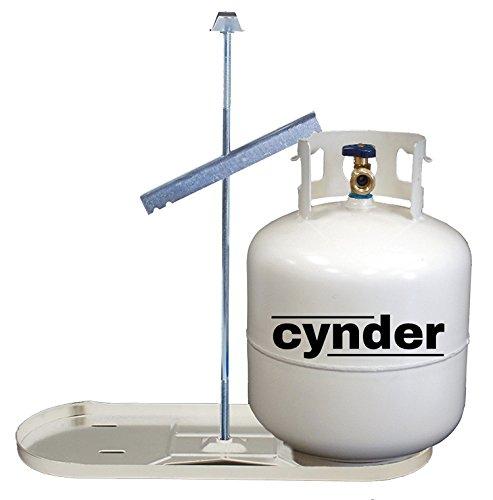Cynder 00666 Double Bottle Rack LP Dual Propane Tank Cylinder Kit Tray (20 lb, White)