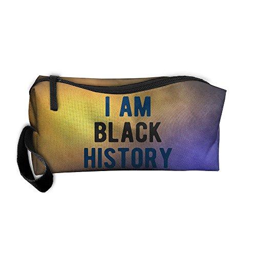 I Am Black History Portable Zipper Storage Bag Clutch Wallets Pouch Coin Purse Zipper Holder Pencil Bag ()