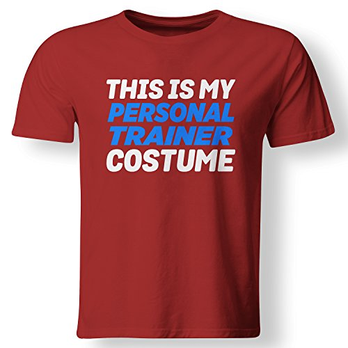 My Personal Trainer Costume Funny Lazy T Shirt Red Large