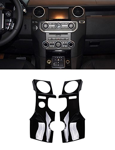 For Land Rover Discovery 4 LR4 Accessories ABS Dark Wood Grain Center Console Air Conditioning Outlet Cover Trim Sticker For Left Hand Drive ()