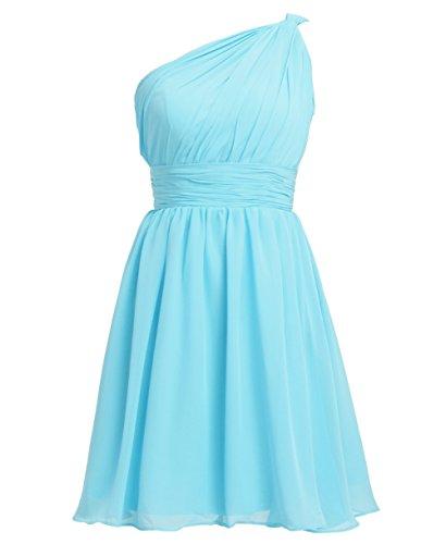 Bridal_Mall - Vestido - Sin mangas - para mujer azul celeste