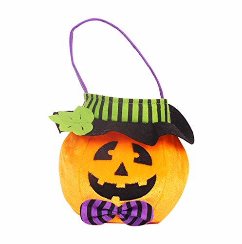 Orange Barrel Costume (CN'Dragon Halloween Pumpkin Barrels Candy Bag Children Handbag (Pumpkin))