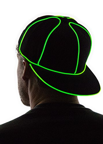 Neon Nightlife Light Up Snapback Hat, (Neon Hat)