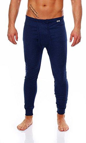 2 x Super warme Thermo - Herren-Unterhose, lang, blau, Größe: 5 - 13
