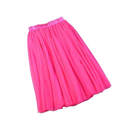 Tutu Media Sottoveste Lunghezza Rossa Gonna Donna Fuweiencore Alta Strati Svasato Rosa Vintage Tulle In 5 Elastico Elegante tq0ptd