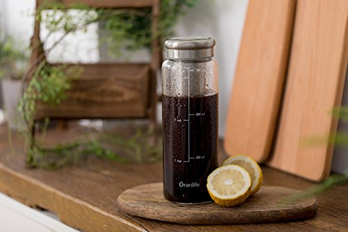 Cold Brew Bottle Maker for Tea Brewing Glass Carafe Outdoor Travel Stainless Steel Airtight Infuser Water Bottle cup