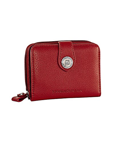 stone-mountain-usa-small-zip-around-leather-wallet-red-one-size